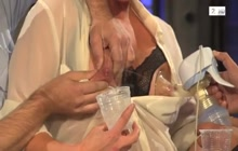 Lactation on live TV
