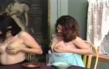 3 dirty chicks lactating their tits