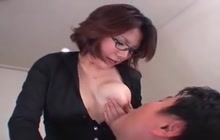 Japanese MILF breastfeeding