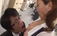 Japanese office lady lactated